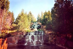 Waterfalls Toned with a Retro Vintage Instagram Filter by graphicphoto