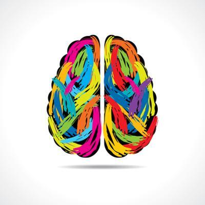 Creative Brain with Paint Strokes by graphicsdunia4you