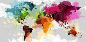 Affordable abstract maps posters for sale at allposters colourful world map by graphinc gumiabroncs Choice Image