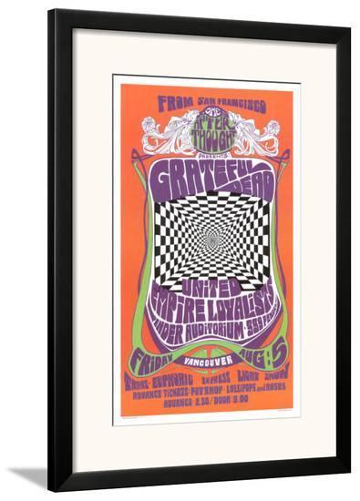 Grateful Dead in Concert, 1966-Bob Masse-Framed Art Print