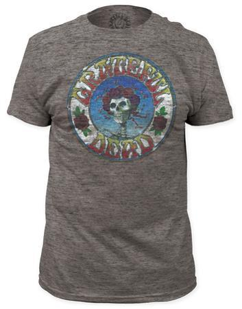 Grateful Dead - Skull & Roses Distressed (slim fit)