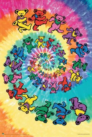 Grateful Dead Spiral Bear