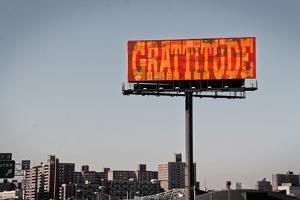Gratitude Billboard in NYC