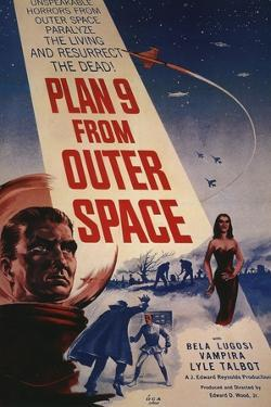 """Grave Robbers From Outer Space, 1959, """"Plan 9 From Outer Space"""" Directed by Ed Wood"""