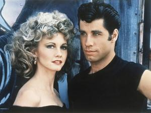 GREASE, 1978 directed by RANDAL KLEISER Olivia Newton-John and John Travolta (photo)
