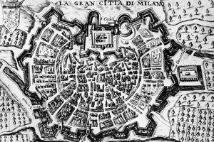 Great City of Milan, of Map of Milan, Italy, 17th Century