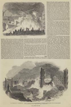 Great Fire and Loss of Life in Liverpool
