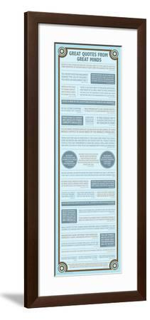 Great Quotes From Great Minds--Framed Poster