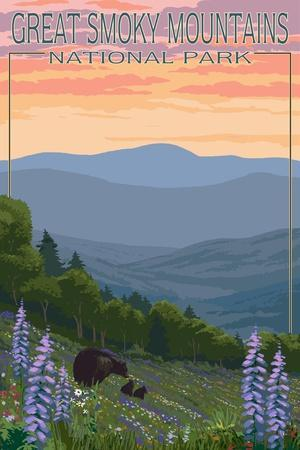 https://imgc.allpostersimages.com/img/posters/great-smoky-mountains-national-park-bear-and-spring-flowers_u-L-Q1GQO5K0.jpg?p=0