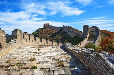 Great Wall Of China and Sky