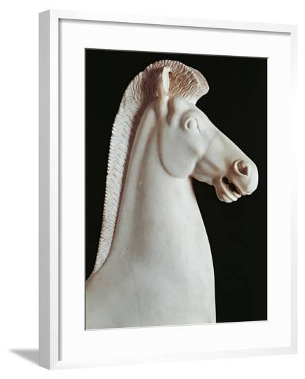 Greek Civilization Statue of Horse, from Athens--Framed Giclee Print