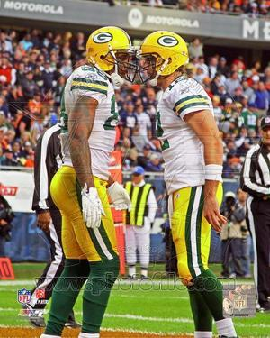 Green Bay Packers - Aaron Rodgers, Jermichael Finley Photo