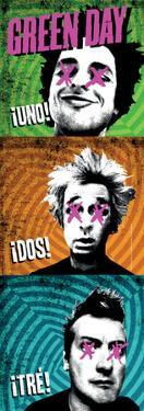 Green Day - 1-2-3 Fabric Poster