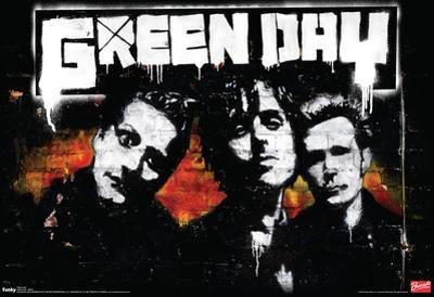 Green Day Brick Music Poster