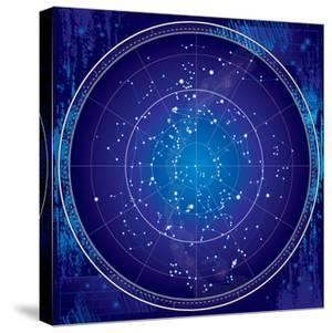 Celestial Map of the Night Sky by Green Ocean