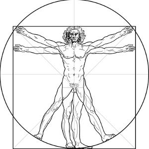 The Vitruvian Man, or Leonardo's Man by Green Ocean