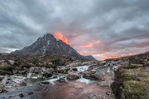 Buachaille Etive Mor and the River Coupall at Sunset by Green Planet Photography