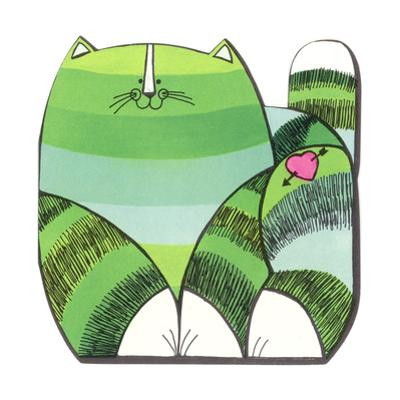 Green Striped Cat