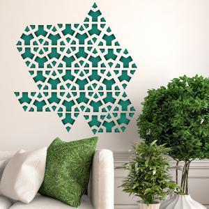 Green Triangle Geometry Pattern