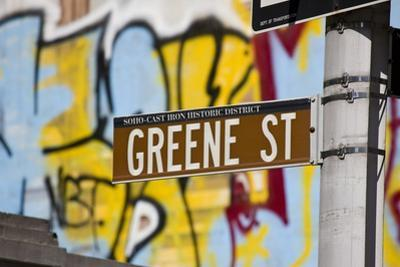 Greene Street Sign, Soho Area, New York