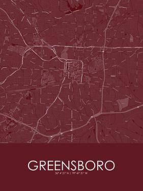 Greensboro, United States of America Red Map