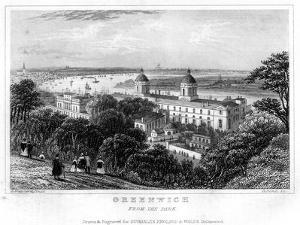 Greenwich, from the Park, London, 19th Century by H Bond