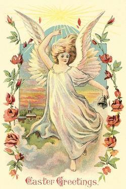 Greetings, Angel Amid Roses