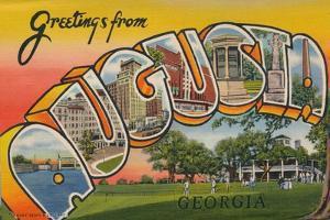 Greetings Card Featuring Augusta, Georgia, 1943