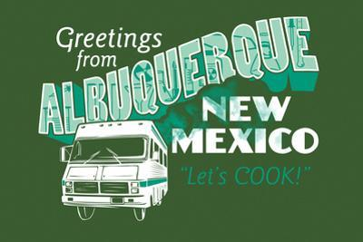 Greetings From Albuquerque New Mexico Snorg Tees Poster