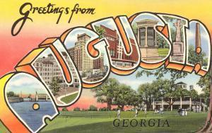 Greetings from Augusta, Georgia
