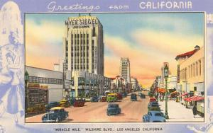 Greetings from California, Miracle Mile, Los Angeles, California