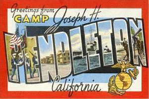 Greetings from Camp Joseph H. Pendleton, California