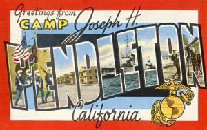 Greetings from Camp Pendleton, California