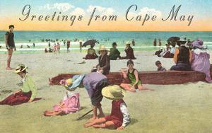 Greetings from Cape May, New Jersey, Beach Scene