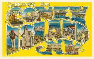 Greetings from new york poster for sale at allposters greetings from coney island new york m4hsunfo