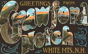 Greetings from Crawford Notch, White Mountains, New Hampshire