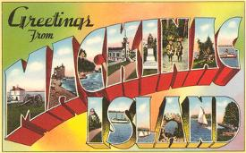 Affordable greetings from michigan posters for sale at allposters greetings from mackinac island michigan m4hsunfo