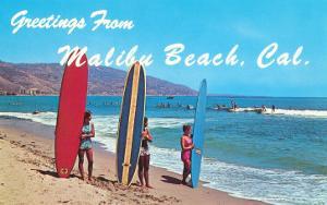 Greetings from Malibu Beach, California, Surfers