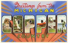 Affordable greetings from michigan posters for sale at allposters greetings from michigan copper country m4hsunfo