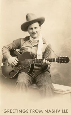 Greetings from Nashville, Singing Cowboy with Guitar