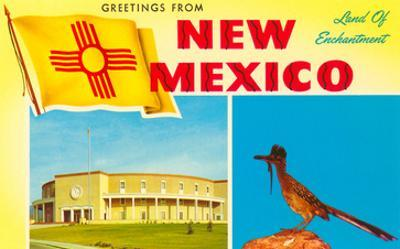 Greetings from New Mexico, Roadrunner and Roundhouse
