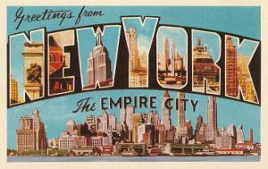 Greetings from New York, the Empire City
