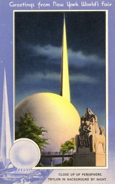 Greetings from New York World's Fair, Trylon and Perisphere