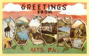 Greetings from Pocono Mountains, Pennsylvania