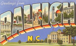Greetings from Raleigh, North Carolina