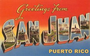 Greetings from puerto rico posters for sale at allposters greetings from san juan puerto rico m4hsunfo