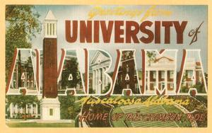 Greetings from University of Alabama, Tuscaloosa