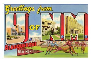 Greetings from University of New Mexico, Albuquerque, New Mexico
