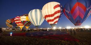 Albuquerque International Balloon Fiesta 2013 Dawn Patrol Preparing for Lift Off by Greg Boreham