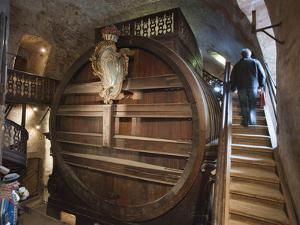 A Giant Oak Wine Barrel at Heidelberg Castle Holding 220,000 Litres by Greg Dale